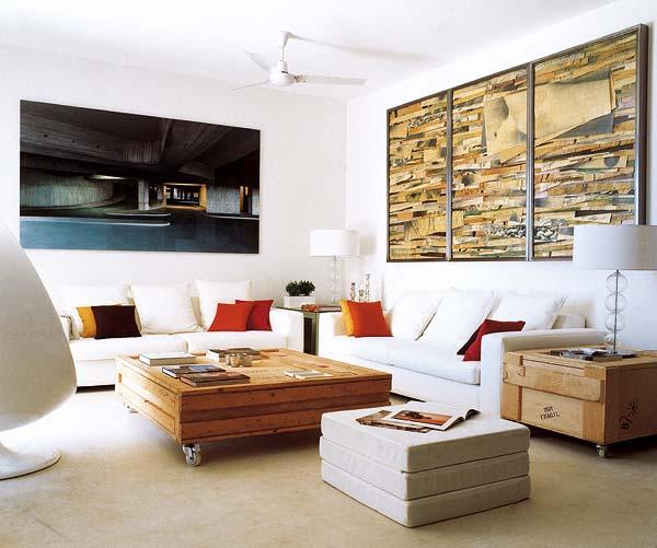 La pared del sofá