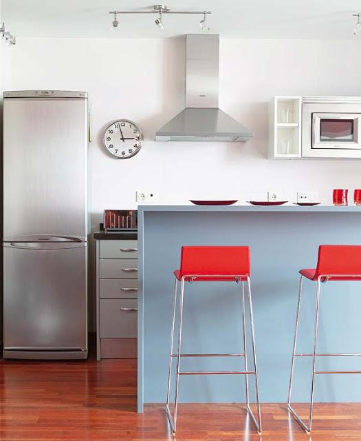 Una barra en la cocina