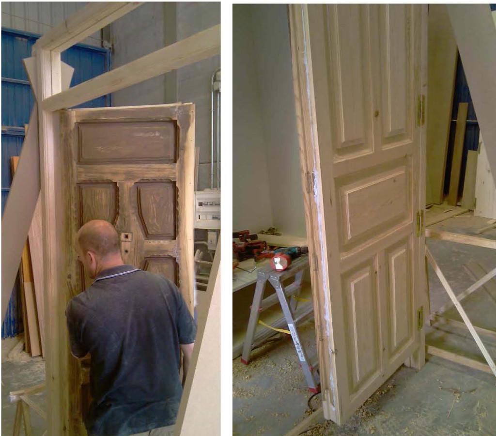 Puerta. Fase final del trabajo de taller
